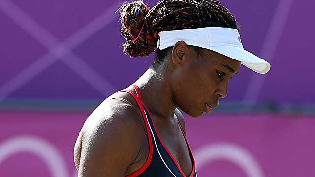 Venus Williams is denied a shot at her record fourth gold medal in Olympic tennis. (Getty Images)