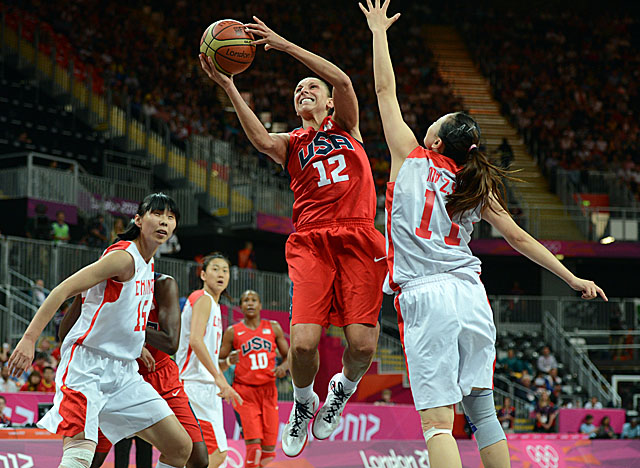 Taurasi's 22 points help the U.S. women's team notch its 38th straight win in Olympic play. (Getty Images)