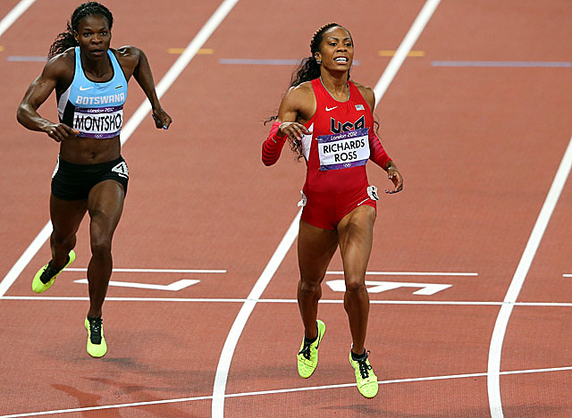 Richards-Ross gives the U.S. its first gold medal in track and field in London. (Getty Images)