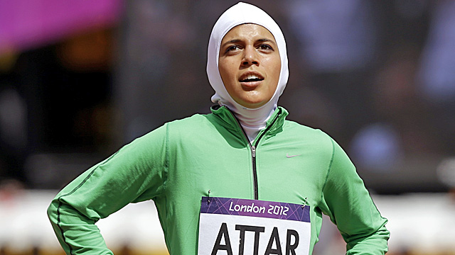 Attar's Olympic track debut comes five days after another Saudi woman competes in judo. (AP)