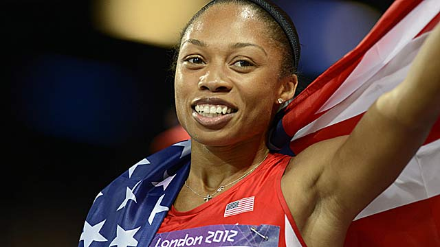 Allyson Felix had settled for the silver in the 2004 Athens Olympics. (US Presswire)