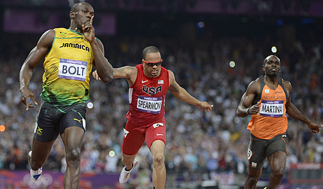 Usain Bolt silences all in the 200, makes history with second straight Olympic sprint double. (US Presswire)