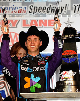 Denny Hamlin leads the series with eight wins this season. (Getty Images)