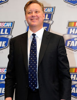 NASCAR chairman and CEO Brian France carries on the family business passed down from his father in 2003. (Getty Images)
