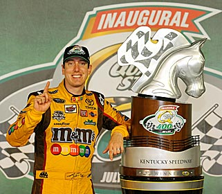 Kyle Busch really dug Kentucky. (Getty Images)