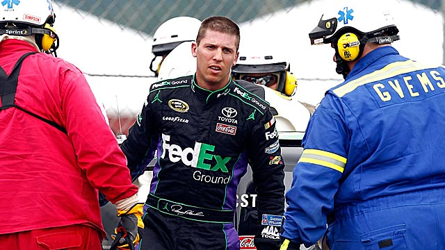 Denny Hamlin is still looking for the formula that powered the 11 car to such success in 2010. (Getty Images)