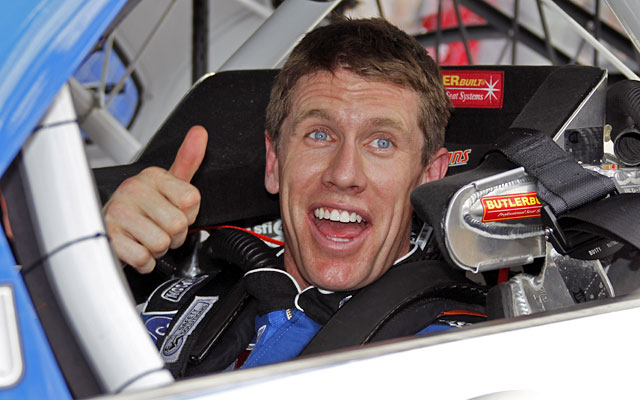 Carl Edwards' 194.738-mph qualifying speed is the fastest at Daytona since Jeff Gordon in 1999. (AP)