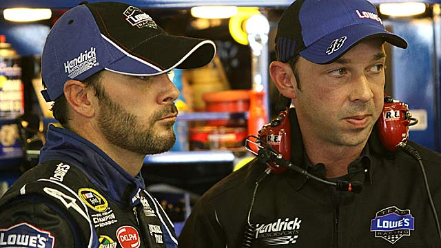 Jimmie Johnson and Chad Knaus plan to appeal the penalties. (Getty Images)