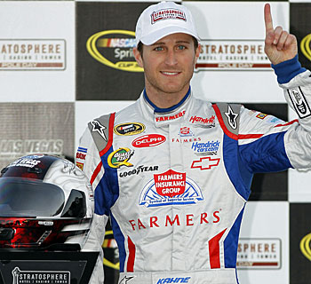 Auto Racing Track Records on Kahne Sets Track Record In Pole Run At Las Vegas Motor Speedway