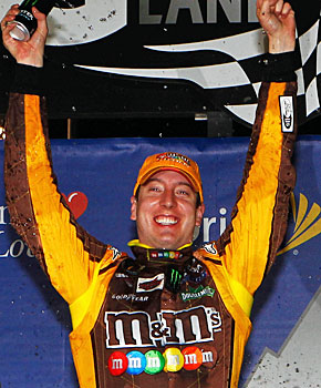 Kyle Busch makes it to Victory Lane for the first time this season. (Getty Images)