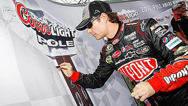 The pole is a positive step for Jeff Gordon, who is uncharacteristically 17th in the standings. (Getty Images)