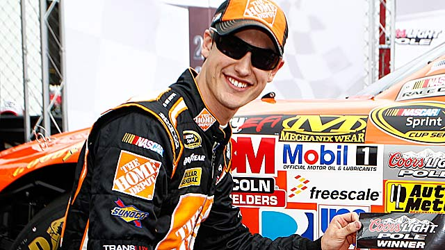 Joey Logano wins his first pole of the season and fourth in 125 career Sprint Cup starts. (Getty Images)