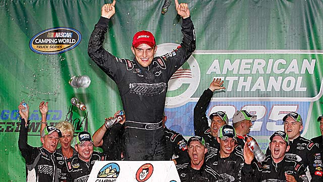 This is James Buescher's third career victory -- all three coming this season. (Getty Images)