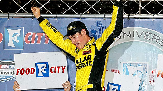 Joey Logano picks up his sixth Nationwide win of 2012. (Getty Images)