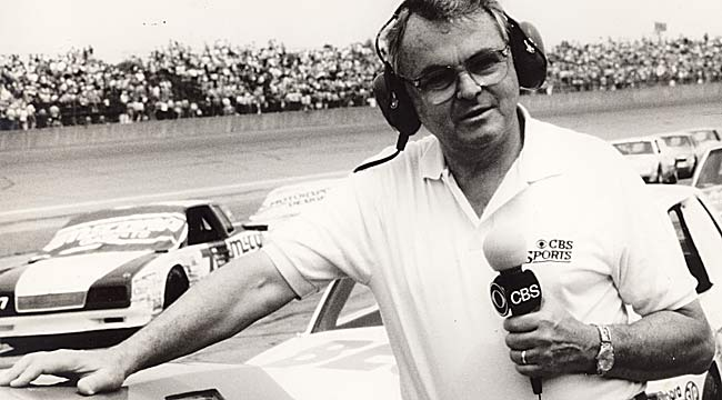 Chris Economaki, who worked in TV for over 40 years, was part of ABC's first telecast from Daytona in 1961. (AP)