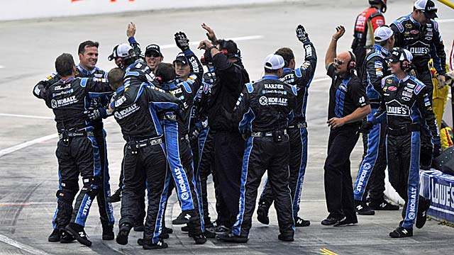 The 48 crew celebrates another Martinsville victory. (AP)