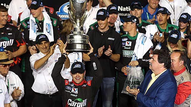 Ricky Stenhouse Jr. becomes the first since 2005 to win back-to-back NNS titles. (Getty Images)