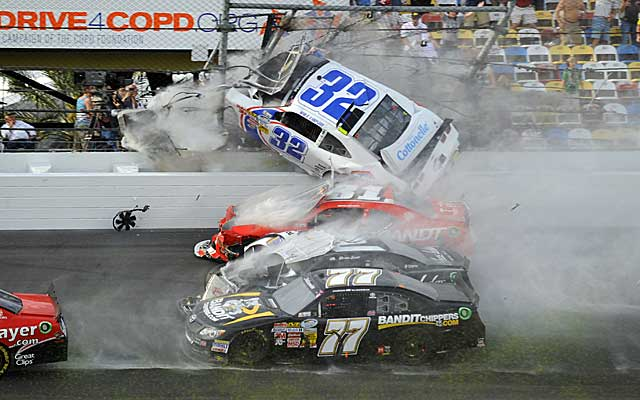 More than 30 fans were injured during a late wreck in the Nationwide Series race at Daytona. (USATSI)
