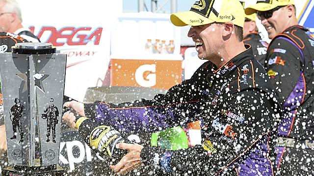 Denny Hamlin's season suddenly takes on a happier look. (USATSI)