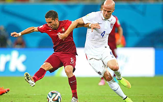 Michael Bradley has struggled under immense expectations in Brazil.  (USATSI)