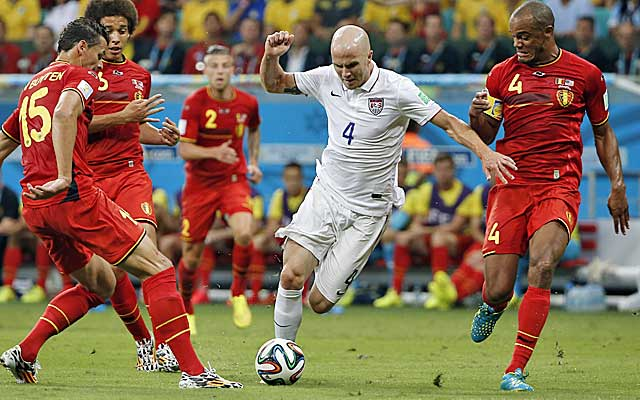 Michael Bradley uncharacteristically struggled against the world's best in Brazil.  (USATSI)