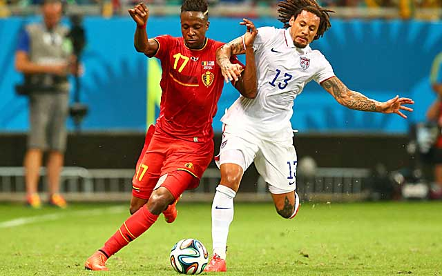 Jermaine Jones proves to be the best player not named Tim Howard for the US.  (USATSI)
