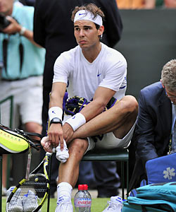 Nadal on his left foot injury: 'I thought I wouldn't be able to continue playing. That's the truth. I'm not lying.' (Getty Images)