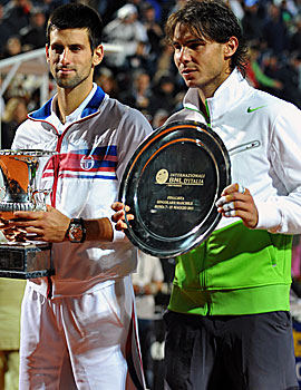 Regardless of the outcome, Novak Djokovic will take over No. 1 from Rafael Nadal come Monday. (Getty Images)