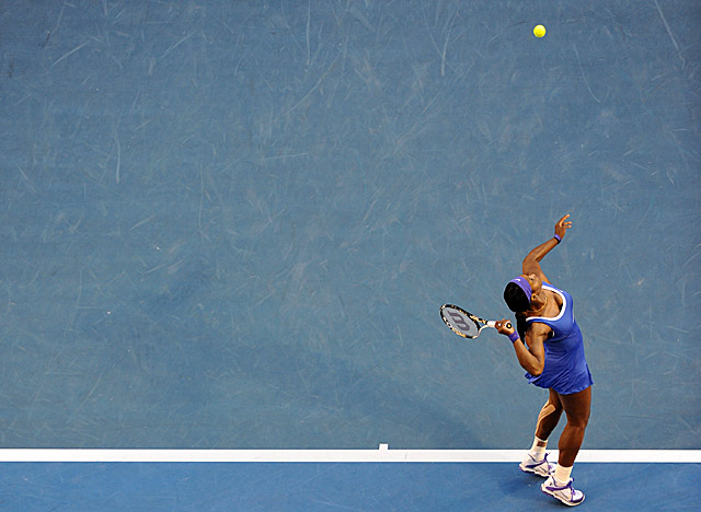 Serena Williams spends just 59 minutes Saturday putting away 92nd-ranked Greta Arn. (Getty Images)
