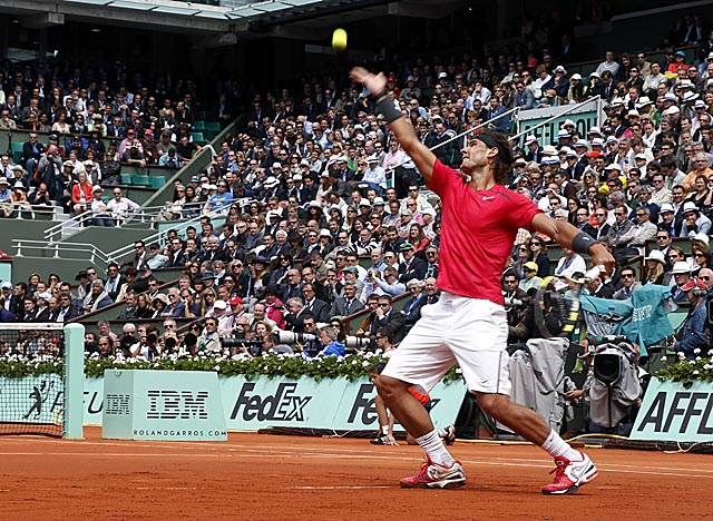 In rolling past Ferrer, Nadal takes another step toward his 11th career Grand Slam title. (Getty Images)