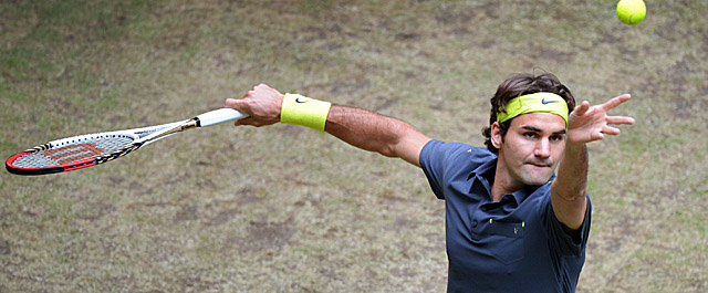 Federer will vie for a record sixth title in Halle when he faces Tommy Haas on Sunday. (Getty Images)