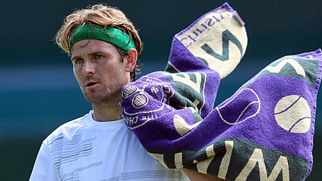 A quarterfinalist last summer, Mardy Fish wins his first match since a heart scare. (Getty Images)