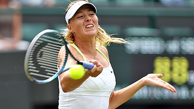 Sharapova recovers from a service outage to down Tsvetana Pironkova. (Getty Images)