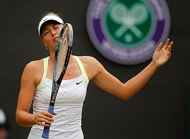 Sharapova fails in her bid to win the French Open and Wimbledon back to back. (Getty Images)