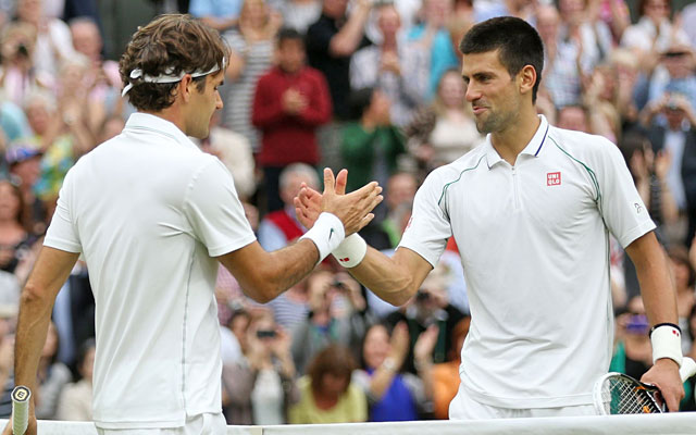 Roger Federer will take the No. 1 ranking from Novak Djokovic with a victory in Sunday's final. (Getty Images)