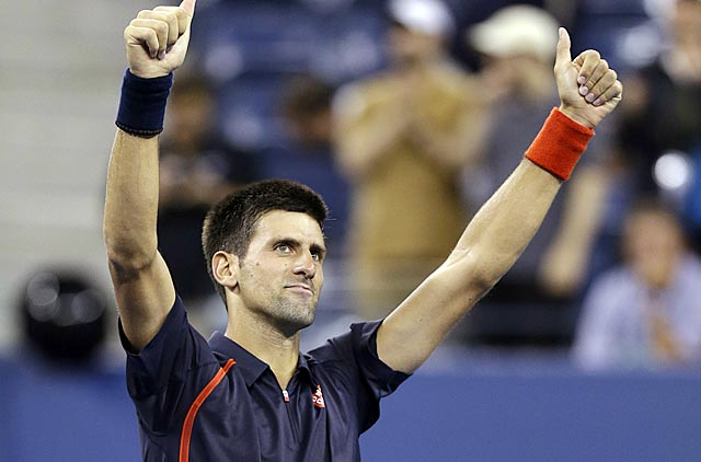 For the 10th consecutive time, Novak Djokovic advances to a Grand Slam semifinal. (AP)