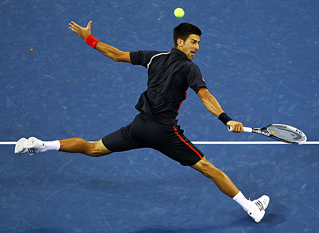 Djokovic faces David Ferrer, against whom the defending champ holds a 8-5 career edge. (Getty Images)