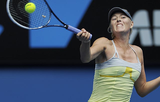 Maria Sharapova loses only 23 points in defeating Olga Puchkova in 55 minutes. (AP)