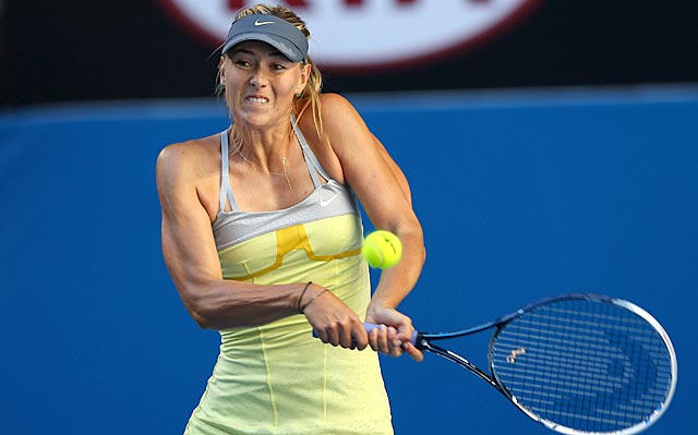 Through two matches in Melbourne, Maria Sharapova has lost zero games and only 38 points. (Getty Images)