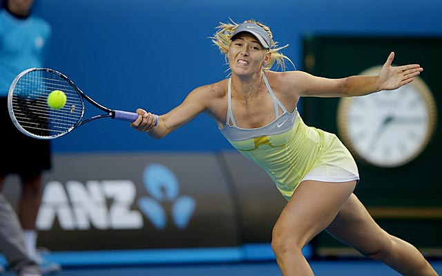 Maria Sharapova wins in straight sets and improves her all-time record against Venus Williams to 5-3. (AP)