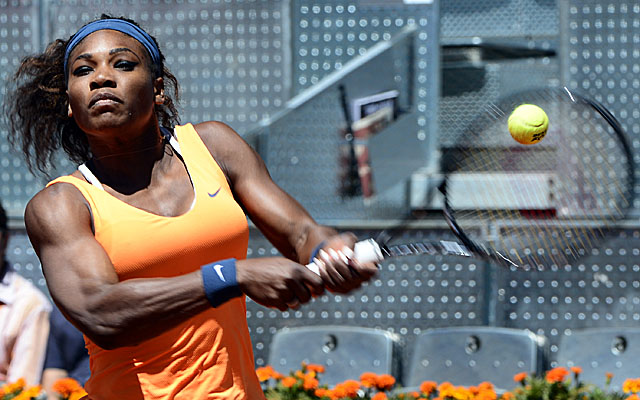 Williams ends Maria Sharapova's streak of reaching finals on red clay at eight. (Getty Images)
