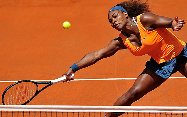 Serena Williams has little trouble getting past qualifier Simona Halep to the final in Rome. (Getty Images)