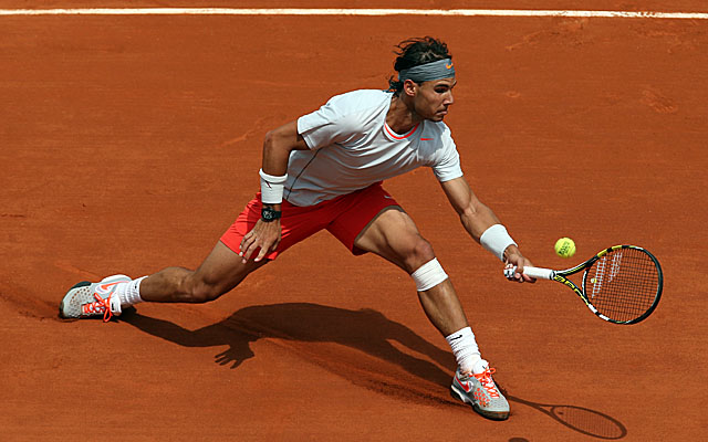 Seven-time champ Rafa Nadal has a rare dropped set at the French Open before rallying to victory. (Getty Images)