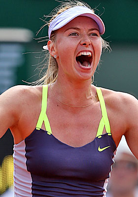 Sharapova picks up her first win after losing an opening set 6-0. (Getty Images)