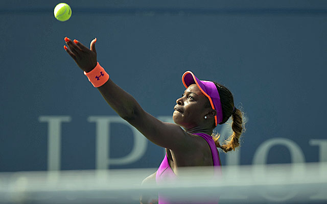 Sloane Stephens rolls into the Round of 16 by defeating Jamie Hampton and will face Serena Williams next. (USATSI)