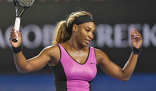 Serena Williams celebrates during her victory over Australia's Ashleigh Barty. (Getty Images)