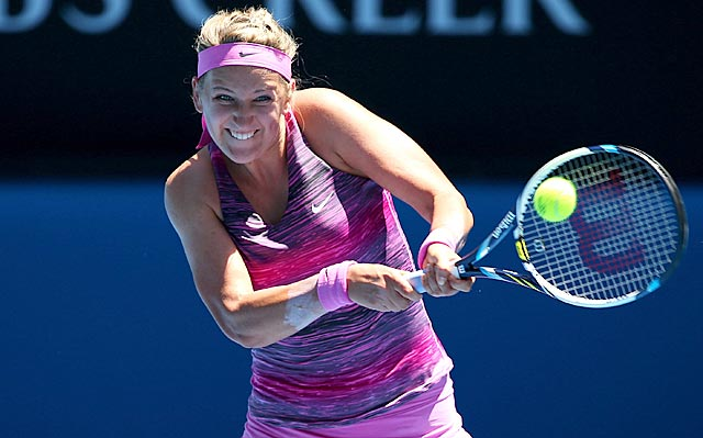 Defending champ Victoria Azarenka calls the conditions 'like you're dancing in a frying pan.' (Getty Images)