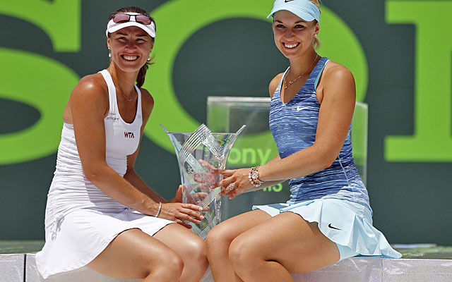 Martina Hingis and playing partner Sabine Lisicki got into the draw as a wild-card team. (USATSI)