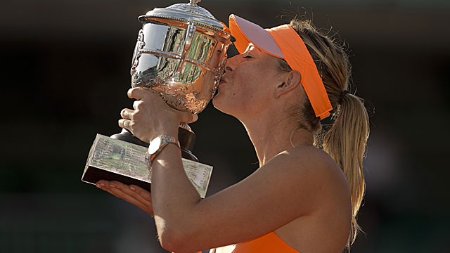 This is the second French Open title for Maria Sharapova, who also won it in 2012. (USATSI)