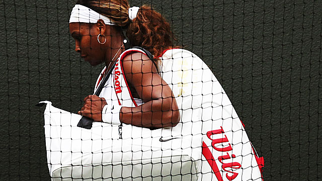 This is the earliest Wimbledon exit for five-time champ Serena Williams since 2005. (Getty Images)